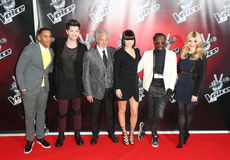 Reggie Yates,Danny O,Holly Willoughby,Jessie J,Jessie J.,Tom Jones,will i am,Will. I. Am,Will. I. Am.,will.i.am,Danny O'Donoghue Stock Photography