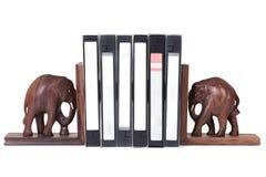Reggilibro dell'elefante Fotografie Stock Libere da Diritti