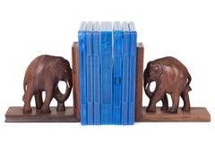 Reggilibro dell'elefante Fotografie Stock