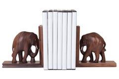 Reggilibro dell'elefante Immagini Stock