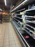 Reggimenti del supermercato russo Fotografie Stock Libere da Diritti