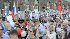 Reggimento immortale a Mosca stock footage