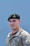 Reggimento reale del soldato dell'artiglieria della Nuova Zelanda Fotografia Stock Libera da Diritti