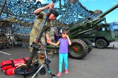 Reggimento reale del soldato dell'artiglieria della Nuova Zelanda Immagine Stock