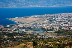 Reggio Calabria. Italy, aerial view stock photography