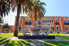 REGGIO CALABRIA, ITALY - JULY 25, 2014: Abstract puzzling sculpt Stock Image