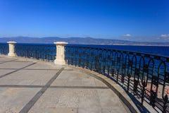 Reggio calabria promenade Royalty Free Stock Image