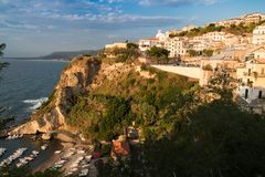 Reggio Calabria przy zmierzchem zdjęcie royalty free