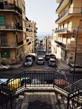 Reggio Calabria terrasserad stad arkivbilder