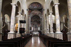 Reggio Emilia. Italy - Emilia-Romagna region. Basilica of Saint Prosper interior (San Prospero stock photo