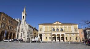Reggio Emilia - della πλατειών Vittoria, Teather Ariosto και Galleria Parmeggiani στοκ εικόνες με δικαίωμα ελεύθερης χρήσης