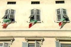 Reggio Emilia. Facade of the house Royalty Free Stock Photo