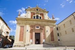 Reggio Emilia - fasaden av chruch Chiesa di San Pietro royaltyfria foton