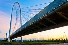Reggio Emilia, Italy - Calatrava bridges at dusk Royalty Free Stock Photo