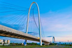 Reggio Emilia, Italy - Calatrava bridges at dusk Royalty Free Stock Image