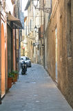 Reggio Emilia. Urban view. Very narrow streets of old city Stock Photos