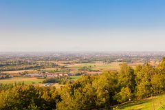 Reggio Emilia view from the hills. Italy stock images