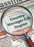 Região agora de aluguer do país Gerente-CIS 3d Fotos de Stock