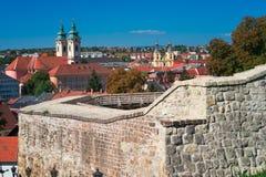 A região bonita do vinho de Eger em Hungria fotografia de stock