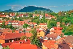A região bonita do vinho de Eger em Hungria imagens de stock