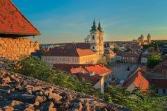 A região bonita do vinho de Eger em Hungria fotos de stock royalty free