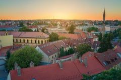 A região bonita do vinho de Eger em Hungria imagem de stock