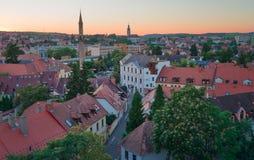 A região bonita do vinho de Eger em Hungria imagem de stock royalty free