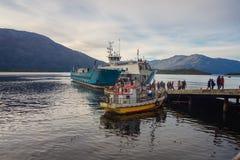 Região de Antartica Chilena do la da casa de campo Puerto Eden/Magallanes y/C fotografia de stock