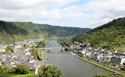Região de Cochem no centro do vale romântico de Moselle, Alemanha Fotografia de Stock Royalty Free