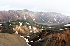 Região de Landmannalaugar Fotografia de Stock