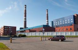 Região de Murmansk da planta de Kandalaksha Alluminum da vista Foto de Stock
