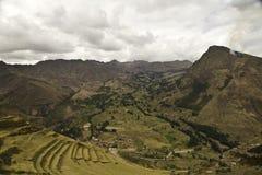 Terraços de Pisac em Cusco Imagem de Stock Royalty Free