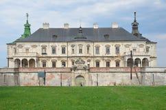 Região de Ucrânia, Lviv, o castelo em Podgortsy, 1445 anos Foto de Stock