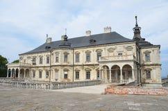 Região de Ucrânia, Lviv, o castelo em Podgortsy, 1445 anos Imagem de Stock