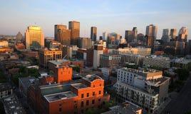 A região do centro de Montreal fotos de stock