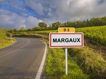 Região do vinho de Margaux de Borgonha, França fotografia de stock