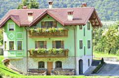 Região italiana das dolomites Foto de Stock Royalty Free