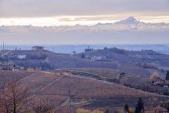 Região montanhosa de Langhe Imagem da cor Foto de Stock