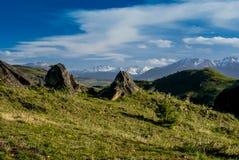 Região selvagem em Coyhaique foto de stock