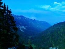 Região selvagem Forest Fire Smoke do pico de Noris Fotografia de Stock