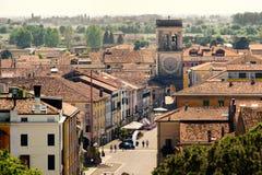 Región aérea Ital de Véneto de la provincia de Padua del pueblo de Este de la ciudad de la torre Fotos de archivo