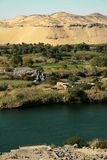 Región agrícola por las dunas de arena? Fotos de archivo