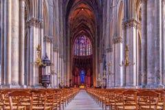 Región de Champán en Francia Una hermosa vista de un churc Foto de archivo libre de regalías