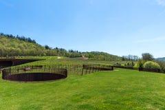 Región de Chianti, Italia - 20 de abril de 2018: El lagar de Chianti Classico del nel de Antinori fotografía de archivo