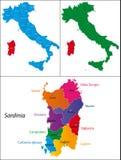 Región de Italia - Cerdeña Imágenes de archivo libres de regalías