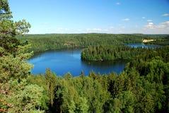 Región de mil lagos. Imagen de archivo