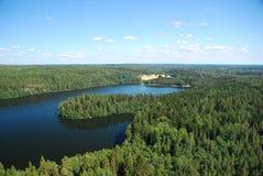 Región de mil lagos Fotos de archivo