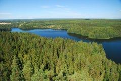 Región de mil lagos Fotografía de archivo libre de regalías