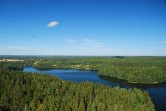 Región de mil lagos Imágenes de archivo libres de regalías