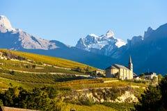 Región de Sion, cantón Valais Fotografía de archivo libre de regalías